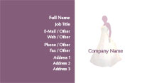 Purple Wedding Planner Business Card Template